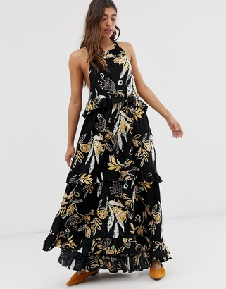 Free People Anita floral print maxi dress