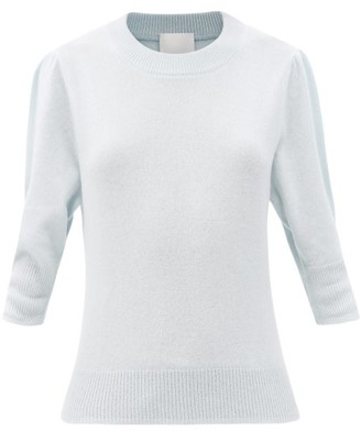 Allude Puff-sleeve Cashmere Sweater - Light Blue