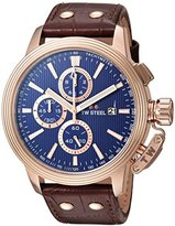 TW Steel 'CEO Adesso' Quartz Stainless Casual Watch, Color:Brown (Model: CE7018)