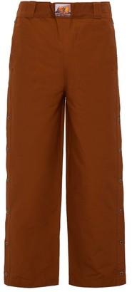 Boramy Viguier Western Press-stud Cotton-blend Twill Trousers - Camel