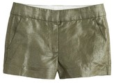 J.Crew Girls' Frankie short in foil cotton-linen