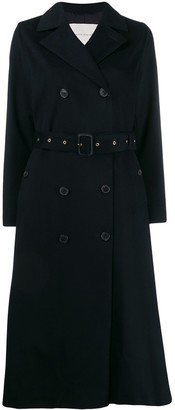 MACKINTOSH MONTROSE Navy Storm System Cashmere Long Trench Coat | LM-091F