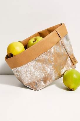 Free People Large Metallic Paper Bag
