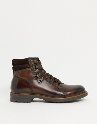 Base London radley hiker boots in brown leather