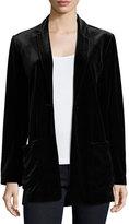 Joan Vass Velvet Button-Front Jacket, Plus Size