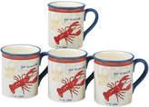 Certified International Coastal Life Lobster 18Oz Mugs