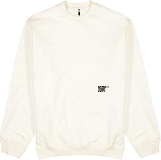Oamc Off-white printed cotton sweatshirt