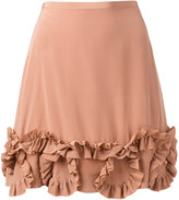 See by Chloe frill trim skirt - women - Silk/Viscose - 36