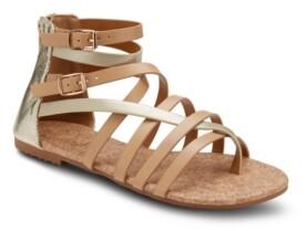 OLIVIA MILLER Modern Romance Two Tone Sandals Women's Shoes