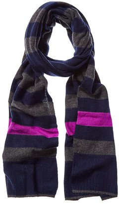 LISA TODD Stripe Hype Cashmere Scarf