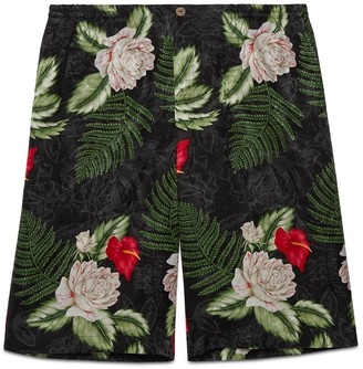 Gucci Hawaiian print viscose shorts