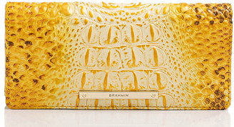 Brahmin Ady Croc Embossed Leather Wallet