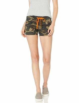 Cover Girl Junior's Cute Camo Denim Mid Rise High Waisted Jeans Shorts