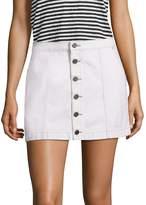 Joie Women's Emeralda Button-Front Denim Mini Skirt