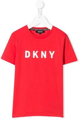 DKNY short sleeve logo print T-shirt
