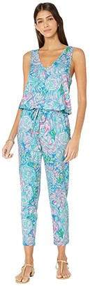 Lilly Pulitzer Paulina Jumpsuit (Multi In Full Bloom) Women's Jumpsuit & Rompers One Piece