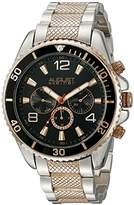 August Steiner Men's AS8119TTR Swiss Quartz Multifunction Black Dial Two-tone Bracelet Watch