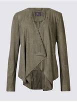 M&S Collection Suedette Waterfall Jacket