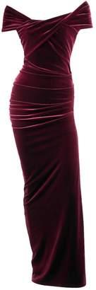 Me&Thee Charmed Life Red Wine Velvet Maxi Dress