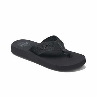 Reef Women's Sandals Sandy   Water-Friendly Flip Flops for Everyday Use   Black/Black   Size 5