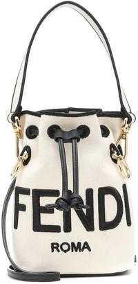 Fendi Mon Tresor Mini canvas bucket bag