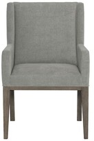 Bernhardt Linea Upholstered Arm Chair Upholstery Color: Charcoal, Leg Color: Brown