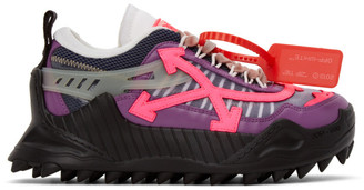 Off-White Purple and Pink ODSY-1000 Sneakers