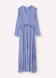 Libertine-Libertine Light and Drapy Striped Pearl Maxi Dress - xs
