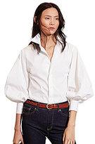 Lauren Ralph Lauren Bishop-Sleeve Cotton Shirt