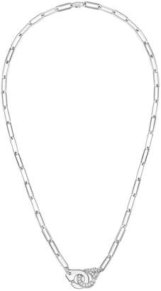 Dinh Van Half Diamond Menottes R12 Necklace - White Gold
