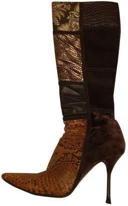 Le Silla Brown Water snake Boots