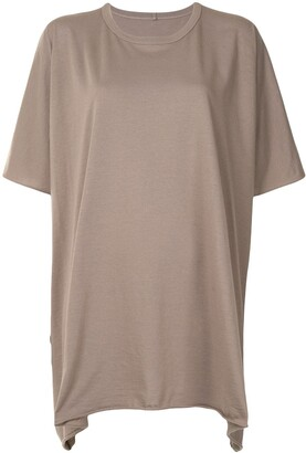 Rick Owens oversized asymmetric T-shirt