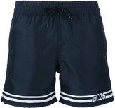 Gcds - striped logo swim shorts - men - Polyester - M