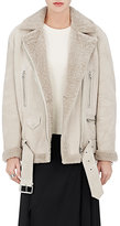 Acne Studios Women's More Shearling Moto Jacket