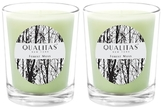 Qualitas Candles Forest Moss Beeswax Candles (Set of 2) (6.5 OZ)