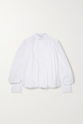 Palmer Harding Ateles Pleated Cotton-blend Poplin Shirt - White