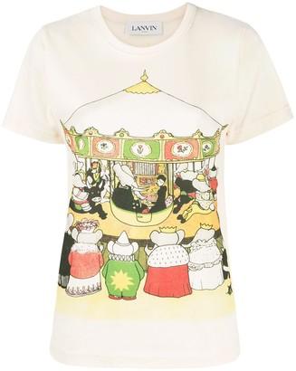 Lanvin Babar carousel print T-shirt