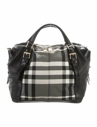 Burberry Beat Check Buckle Tote Black