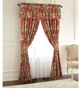 Rose Tree Durham 84-Inch Window Curtain Panel Pair in Coral