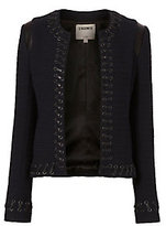 L'Agence Lace-Up Bouclé Jacket