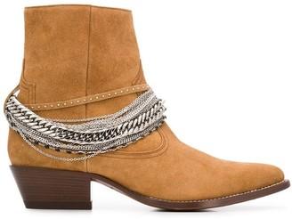 Amiri Western chain boots
