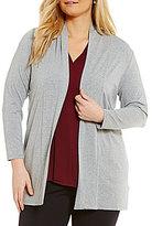 Vince Camuto Plus 3/4 Sleeve Knit Tunic Cardigan