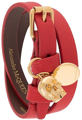 Alexander McQueen Double-Wrap Skull Detail Bracelet