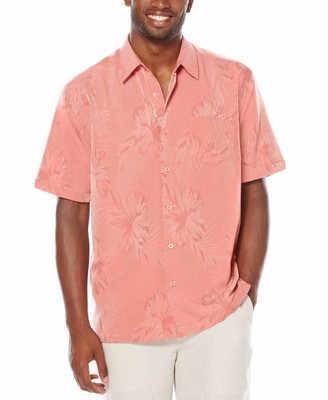 Cubavera 1 Pocket Two Tone Floral Shirt