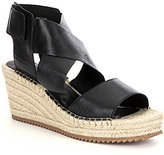 Eileen Fisher Willow Tumbled Leather Wedge Espadrilles
