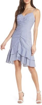 Chelsea28 Stripe Ruched Cotton Dress (Regular & Petite)
