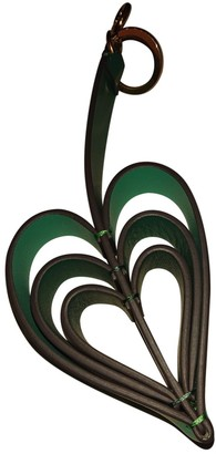 Anya Hindmarch Green Leather Bag charms