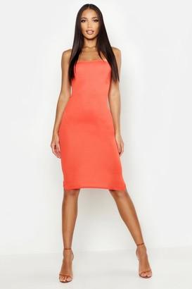boohoo Bandeau Midi Dress