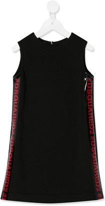 DSQUARED2 Logo Tape Cotton Dress