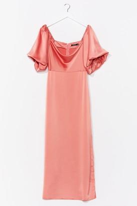 Nasty Gal Womens Sleek Love Satin Maxi Dress - Orange - 4